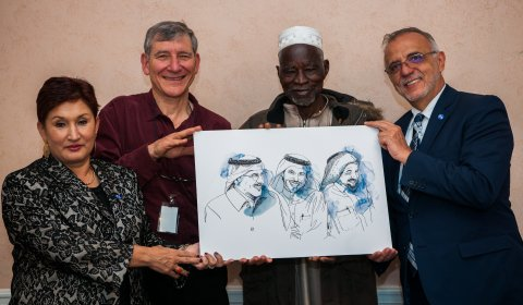 Laureates (from left to right: Thelma Aldana, Tony Rinaudo, Yacouba Sawadogo, Iván Velásquez)